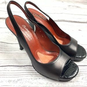 Donald J. Pliner Black Slingback Heels 7.5